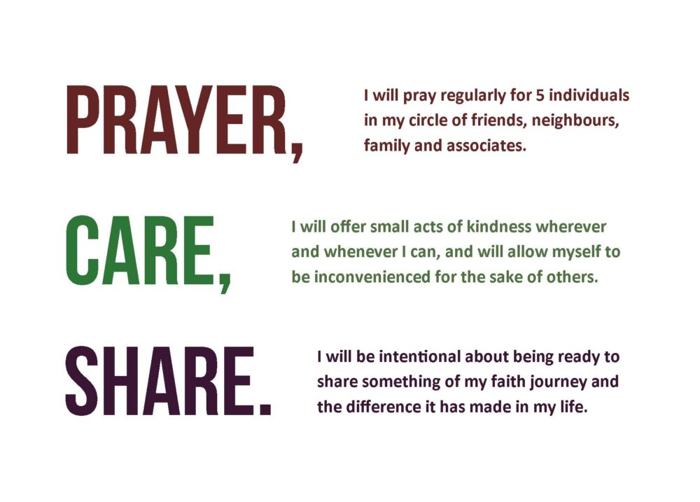 Prayer, Care, Share