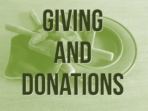 Giving and Donations